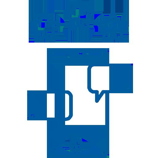 smartphone con notifiche della chat