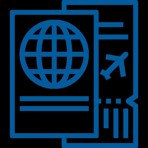 icona carta di imbarco aereo