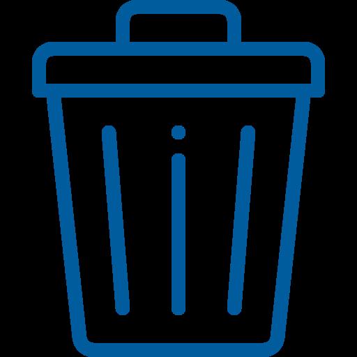 icona bidone dell'immondizia