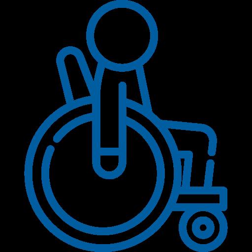 Icona rappresentante persona in carrozzina
