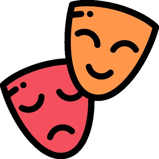 icona rappresentante maschere del teatro