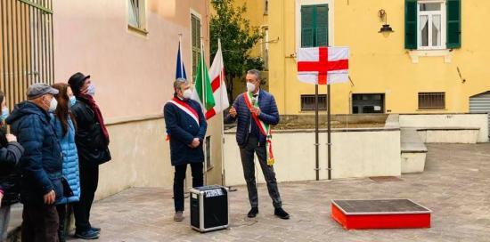 Momento della cerimonia con Garassino e Carratù