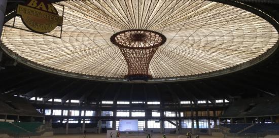 Il soffitto del Palasport