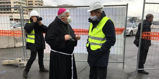Il sindaco con il vescovo