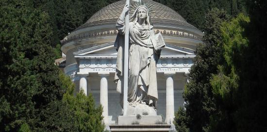 Statua della Fede, di Santo Varni (1875)