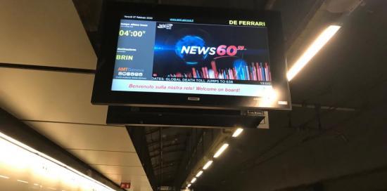 schermo in metro