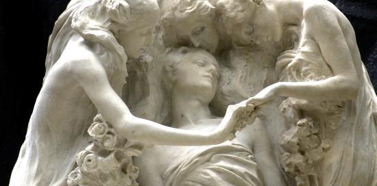 Tomba Bauer, di Leonardo Bistolfi (1904), particolare