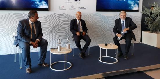 Giovanni Toti, Saverio Cecchi, Marco Bucci