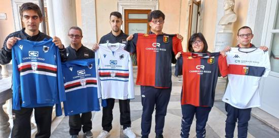 Atleti delle formazioni special di Sampdoria e Genoa