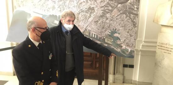 Il sindaco Marco Bucci con ammiraglio Nicola Carlone