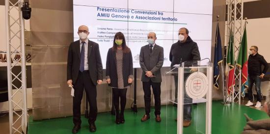 Da sinistra a destra Matteo Campora, Simona Ferro, Pietro Pongiglione, Furio Truzzi