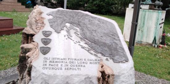 Il cippo al cimitero di Staglieno