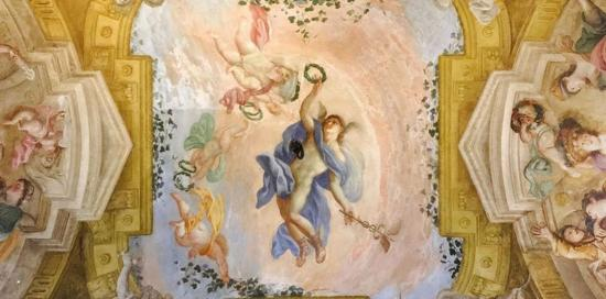 Affresco soffitto di Palazzo Rosso