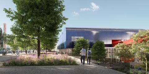 14_ Il Riverfront e la piazza della Green Factory (© Renovatio design)