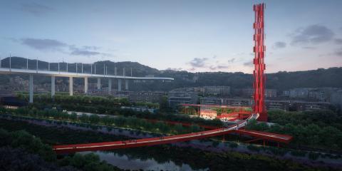 1_ Il Riverfront, il Cerchio Rosso e la Torre del Vento (© The Big Picture, courtesy by SBA)