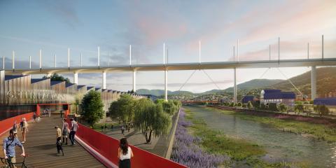 6_ Il Riverfront e la Green Factory (© Renovatio design, courtesy by Metrogramma)