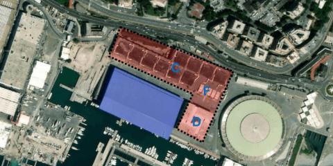Mappa area di interesse con individuazione delle opere da demolire