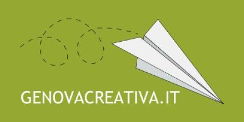 logo di genova creativa raffigurante un aereo di carta
