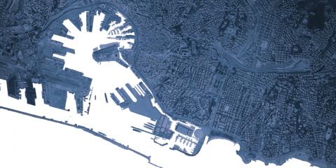 immagine del blueprint di Renzo Piano