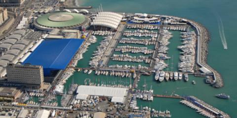 veduta aerea della Foce di Genova