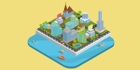 un pezzetto di città stilizzato