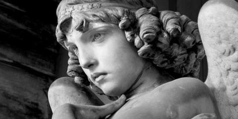 dettaglio monumento al Cimitero di Staglieno