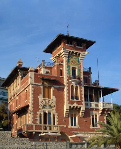 facciata di Villa Chiossone