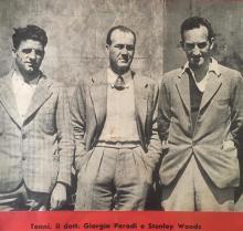 Giorgio Parodi con Tenni e Woods, piloti Guzzi