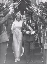 Il matrimonio di Giorgio Parodi nel 1937 a San Francesco di Albaro con Elena Cais di Pierlas, dei conti di Nizza